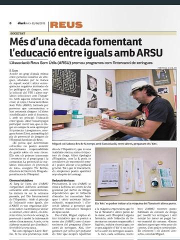 ARSU REALITZA ACCIONS DE SENSIBILITZACIÓ EL DIA MUNDIAL CONTRA LES HAEPATITS